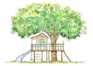 Spielhaus im Baum