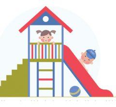 Ein Spielhaus-Holz für Kinder